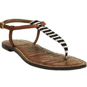 Sam Edelman Gigi black/white striped sandals 9.5
